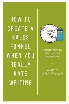 Some people can write sales funnels in their sleep...and some people HATE IT WITH A PASSION!  Either way you cut it, sales funnels are a necessity of small business this days. In this post, I walk you through how to create a SUPER easy VISUAL funnel in less than 30 minutes!!
