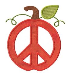Pumpkin Peace Applique - 3 Sizes! | Fall | Machine Embroidery Designs | SWAKembroidery.com Applique for Kids