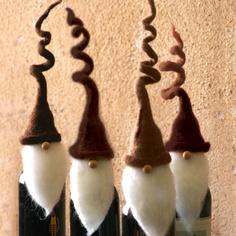 Duxbury Santa Wine Topper (Set of 4)