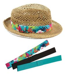mark.'s From The Top Fedora has 3 interchangeable bands making it the perfect accessory for all of your #InstantVacation looks!