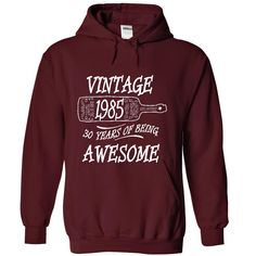 Vintage 1985 T-Shirts, Hoodies. SHOPPING NOW ==► https://www.sunfrog.com/Birth-Years/Vintage-1985-Shirt-1133-Maroon-19022729-Hoodie.html?id=41382