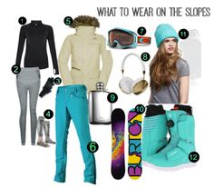 What to wear when skiing and snowboarding #Skiing #Fashion #Moodboard