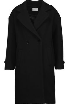 40709b1ec7a Double-breasted boiled wool-blend coat