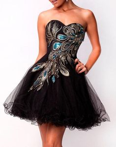 LBD with peacock, damn cool