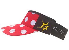 Red with White Polka Dots Headsweats Visor