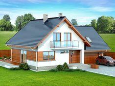 DOM.PL™ - Projekt domu DN NOELIA BIS 2M (garaż dwustanowiskowy) CE - DOM PC1-50 - gotowy koszt budowy Dream House Plans, Design Case, Home Fashion, Stairways, Bungalow, My House, Sweet Home, Shed, New Homes
