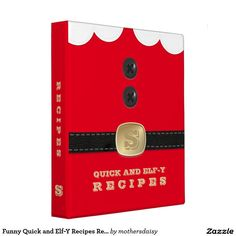 Funny Quick and Elf-Y Recipes Red Festive Cookbook suitable for putting North Pole Breakfast Ideas in?