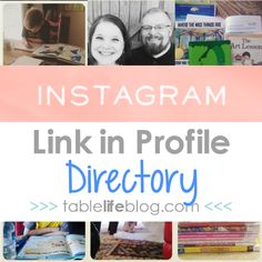 Looking for a link you saw in my Instagram feed? Take a look around and click on an image to learn more: