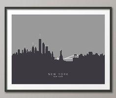 Ciel de New York NYC paysage urbain Art Print 631 par artPause