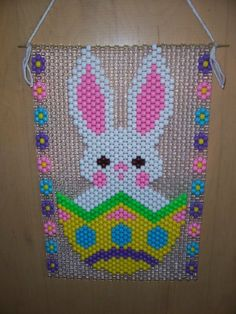 Easter Bunny Beaded Banner by CraftingAddiction on Etsy, $18.99