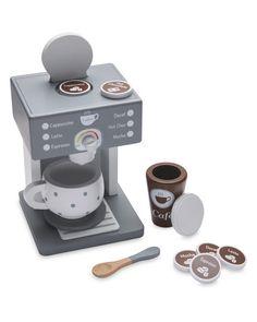 Little Town Wooden Coffee Maker Set Wooden Kitchen, Chor, Espresso Machine, Mocha, Latte, Coffee Maker, Xmas, Christmas, Jasmine