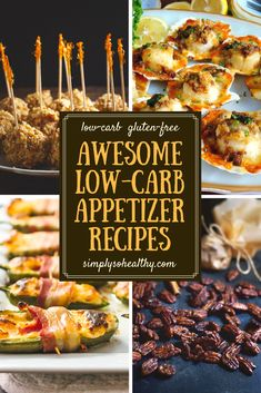 Celebrate the holidays and stay on your low-carb, keto, Atkins, gluten-free, or Banting diet with these delicious low-carb appetizer recipes.