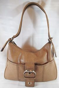 ETIENNE-AIGNER-100-GENUINE-LEATHER-BROWN-SHOULDER-MEDIUM-HANDBAG-FREE-SHIPPING