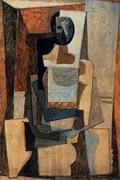 Pablo Picasso - Femme Assise dans un Fauteuil, 1918