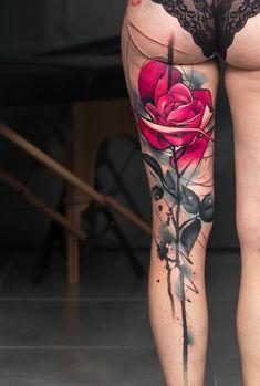 Image Rose tattoo by Uncl Paul Knows in Rose tattoos album Hot Tattoos, Unique Tattoos, Body Art Tattoos, Girl Tattoos, Sleeve Tattoos, Small Tattoos, Tatoos, Tattoo Art, Inspiring Tattoos