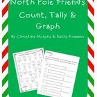 This a FREEBIE count, tally and graph activity.  Students will count the North Pole friends recording with tally marks and numbers.