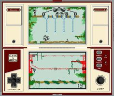 Nintendo's Donkey Kong II Game & Watch. This simple LCD game with fixed sprite positions entertained me for many, many hours as a kid.
