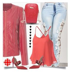 """""""Women's Jacket - Red"""" by ilona-828 ❤ liked on Polyvore featuring polyvoreeditorial and rosegal"""