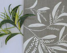 Povlečení utěrce sítotiskem prádlo utěrka na ruce s plošnými White & Natural proutí design