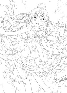 Anime Drawings Sketches, Anime Sketch, Easy Drawings, Cute Coloring Pages, Coloring Books, Anime Art Girl, Manga Art, Lineart Anime, Dessin My Little Pony