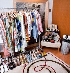 Black Women Totems African Dresses Table Hook Folding Bag Desk Hanger Foldable Holder