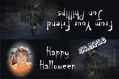Halloween Mansion Favor Candy Bag Labels