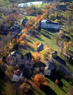 Shaker Village, Pleasant Hill, KY from the air - Heaven is found right here!