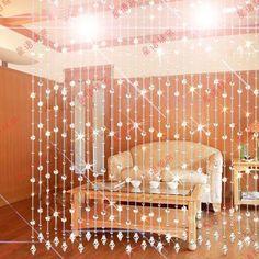 Cortina de cristal partição cortina de contas entranceway cortinas talão porta cortina