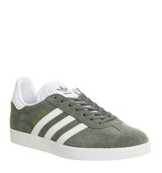 low priced 2709e 5866f adidas Gazelle Trainers Trace Green White - His trainers