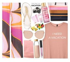 """i need a vacation"" by sugaplump ❤ liked on Polyvore featuring Emilio Pucci, Topshop, Ted Baker, MICHAEL Michael Kors, Soma, Betsey Johnson, NARS Cosmetics, Victoria's Secret, Missha and ArteMare"