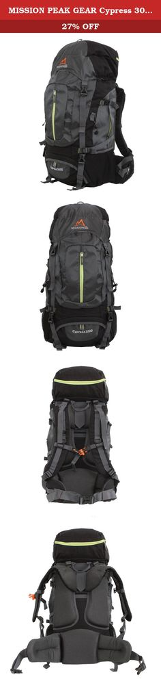 MISSION PEAK GEAR Cypress 3000 50L Internal Frame Backpack (Gray). MPG Cypress 3000 50L lightweight backpack with a purist yet technical look, this versatile pack lets you comfortably tackle everything from gear-heavy weekend trips to lightweight multiday hikes without changing packs. Details: Adjustable harness allows quick, easy adjustment of torso length Back panel features twin side air-mesh foam pads that work like a chimney to vent away warm air and sweat Contoured, padded harness...