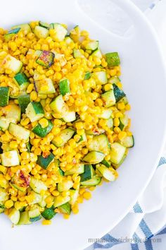 Sometimes I think corn is an underrated side dish. When cooked right, it can be very delicious and it's wonderful paired with other vegetables. Especially with zucchini. Try this Sauted Corn and Zucchini!