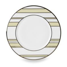 Mikasa® Color Studio Ivory and Platinum Stripe 8 1/2-Inch Accent Plates (Set of 4) - BedBathandBeyond.com