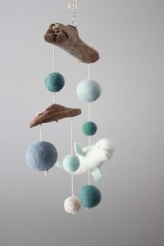 Needle Felted Driftwood Mobile