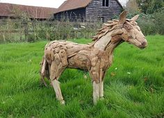 Suppliers of a spectacular life-size driftwood horse, small horse sculpture and driftwood horse heads. Driftwood Sculpture, Horse Sculpture, Animal Sculptures, Driftwood Furniture, Tree Roots, Drift Wood, Outdoor Settings, Horse Head, Seashells