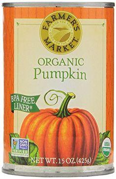 Farmers Market Organic Pumpkin, 15-Ounce (Pack of 12) - http://goodvibeorganics.com/farmers-market-organic-pumpkin-15-ounce-pack-of-12/