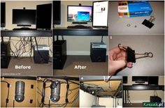 Jak zrobić porządek z kablami :)