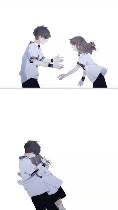 Cute Couple Drawings, Cute Couple Art, Anime Couples Drawings, Anime Couples Manga, Anime Cupples, Chica Anime Manga, Anime Guys, Manga Couple, Anime Love Couple