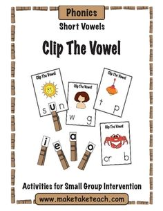 Great small group instruction or literacy center activity.