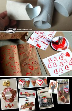 Toilet Paper Roll print - HEARTS