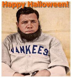 Feliz Halloween de Babe Ruth! Esa barba no está engañando a nadie Babe, ¿cuál es tu disfraz este año?