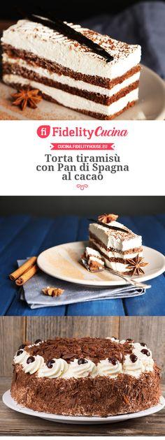Torta tiramisù con Pan di Spagna al cacao