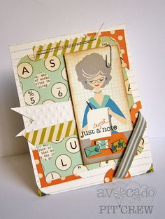 october afternoon 9 to 5. Love this card. I have been looking for ideas on how to use my 9 to 5 papers & embellishments