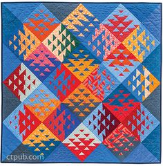 """""""I love this perfectly imperfect quilt of Sujata Shah ! If the triangles had been sewn in accordance with the rules of the art, the quilt would have lacked this unique vibration. If the colors had been perfectly matched, you would need much less time to discover it ..."""""""