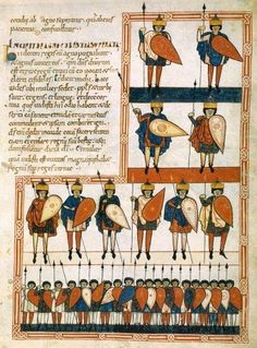 Ten Kings and their Army, from Beatus de Saint-Sever. Commentary on the Apocalypse by Beatus of Liébana, copy from before 1072AD, Southwestern France. Manuscript Latin 8878