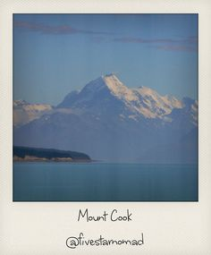 Mount Cook by fivestarnomad, via Flickr