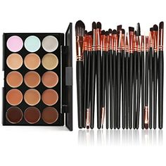 OVERMAL 15 Colors Contour Face Cream Makeup Concealer Palette Professional   20 Brush *** Click image for more details. (This is an affiliate link and I receive a commission for the sales)