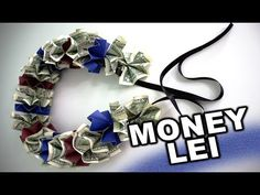 How to make a money lei for graduation with school colors. DIY project: How to make a money lei using school colors. This currency project is very easy and makes a super special gift for a high school or college graduate. Its so simple – all you need is Money Lei, Money Cake, How To Make Leis, All You Need Is, Graduation Leis, Graduation Parties, Money Flowers, School Colors, Creative Gifts
