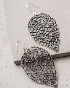 Joana-Silver // Lattice Leaf Earrings // The Shop for Freedom