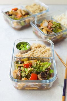Put together four adult sized lunches in just 30 minutes with this Meal Prep Veggie Stir Fry, and you'll have plant-based lunches to enjoy all week long!